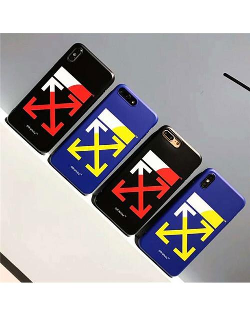 off-white iphone xr/xs maxケース 潮流ブランド iphone x/10s/テンケース 矢印ロゴ アイフォン 8/7 plusケースファッション 芸能人愛用