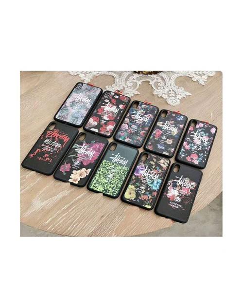 ステューシー stussy Galaxy s10/s10plusケース ブランド個性 galaxy s10e/A30Aケース iphone xr/xs maxケース花柄オシャレ アイフォン 8/7 plusケース メンズレディース兼用
