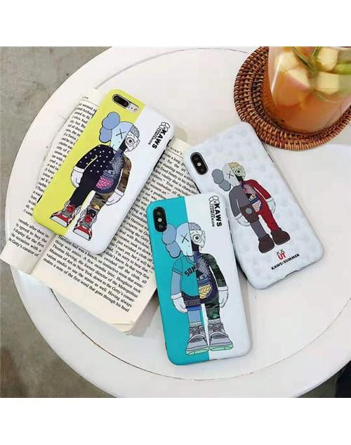 KAWS iphone xr/xs maxケース キャラクター iphone xs/xケース可愛い個性 アイフォン 8/7 plusケース ファッション オシャレ男女兼用
