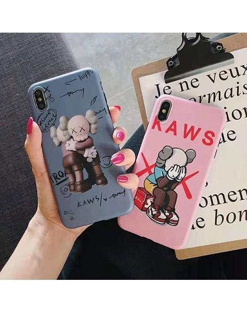 KAWS iphone 11/11pro maxケースブランド 個性キャラクター iphone xr/xs maxケース アイフォン x/8/7 plusカバー 人気潮流