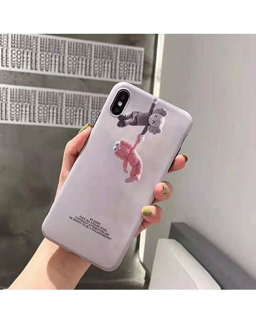 kaws iphone 11/11pro/11pro maxケース 潮流人気 アイフォン xr/xs maxケース キャラクター iphone x/8/7 plusカバー 個性ファッション保護