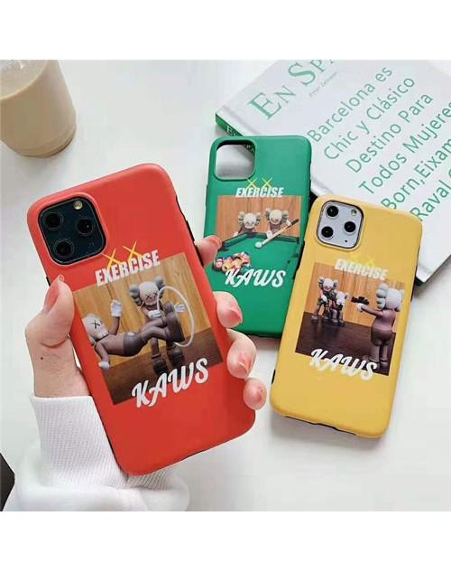 KAWS ブランド iphone 12 mini/12 pro max/se2ケース 安い iphone 11/11pro/11pro maxケース ビジネス Kaws:Exercise ジャケット型 アイフォンx/xs/xr/8/7/6カバー 大人気 メンズ レディース 3色