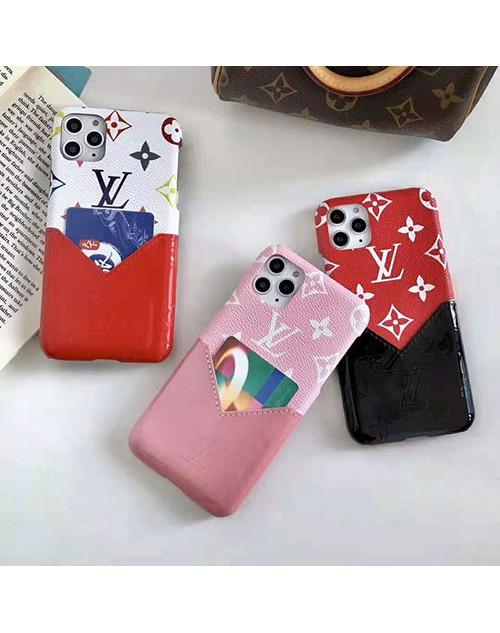 ルイヴィトン iphone11/11pro maxケースlv ブランドアイフォンXr/xs maxケース galaxy s10/note10 plusケースカードポケット付き お洒落モノグラムiphone x/8/7 plusカバー