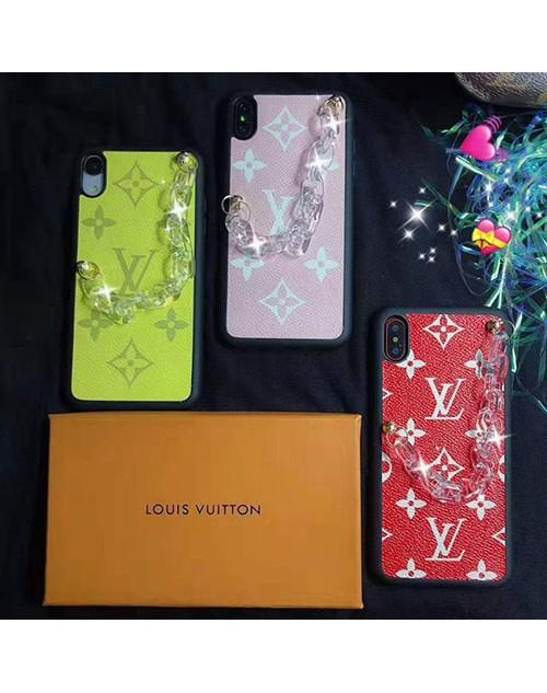 ルイヴィトンlv iphone11/11pro maxケース ブランドiphone xr/xs maxケースチェーン付き アイフォン x/8/7 plus ジャケットケースお洒落モノグラムレディース向け