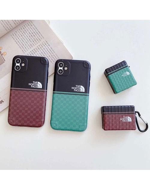 The North Face x Gucci コンボ ブランド iphone 12/12 mini/12 pro/12 pro max/11ケース グッチ 個性 ザ・ノース・フェイス 経典 Airpods 1/2/3/proケース バッグ型 アイフォン12/x/8/7 plus/se2カバー ファッション iphone xr/xs max/11proケース レディース